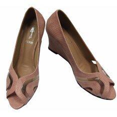 Orella รองเท้า ส้นเตารีด Wedge รุ่น W-92 สีชมพูอ่อน