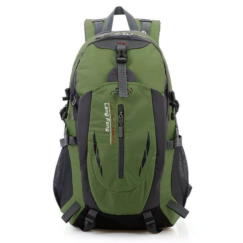 Otzi กระเป๋าเป้สะพายหลัง แบ็คแพ็ค เดินทางท่องเทียว กันน้ำ เขียวขี้ม้า