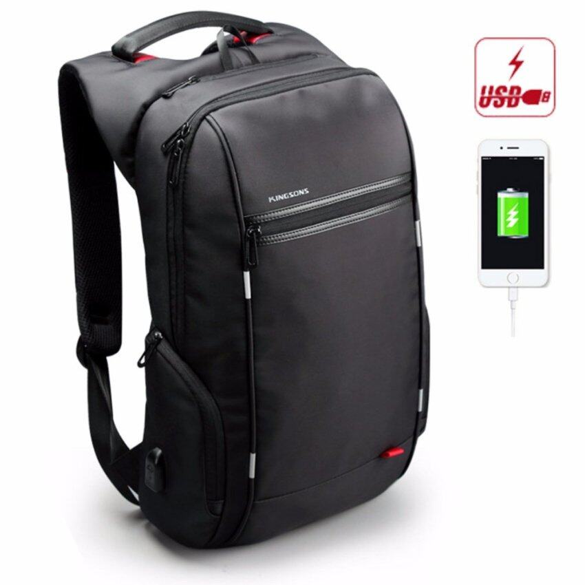 Otzi กระเป๋าเป้สะพายหลัง แบ็คแพ็ค กันน้ำ พร้อมพอร์ตยูเอสบีชาร์จแบตเตอรี่โทรศัพท์มือถือและแท๊บเล็ต Port USB สีดำ