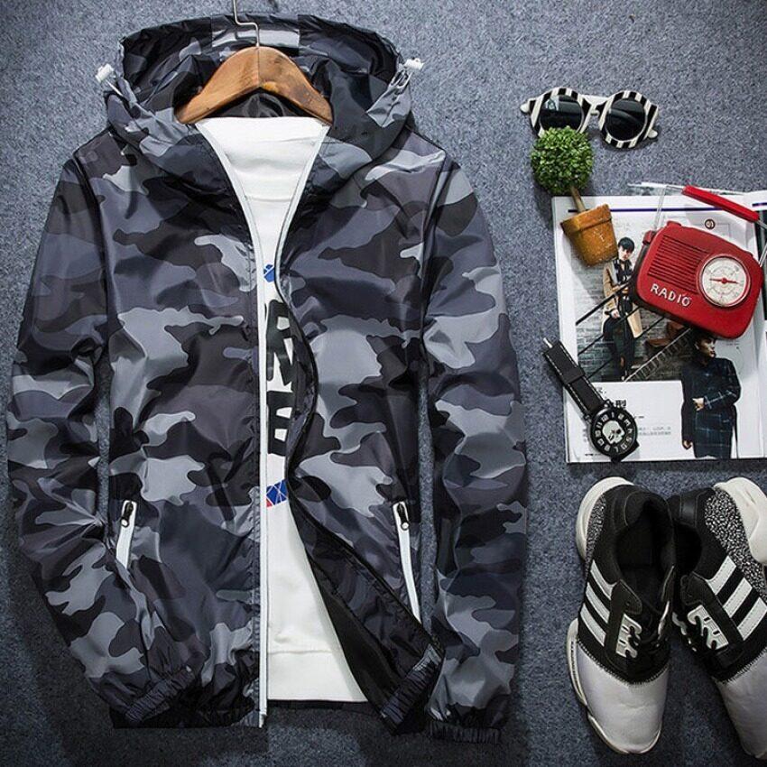 ราคาพิเศษ Outlet Young men's jacket Grey - intl สำหรับคุณ