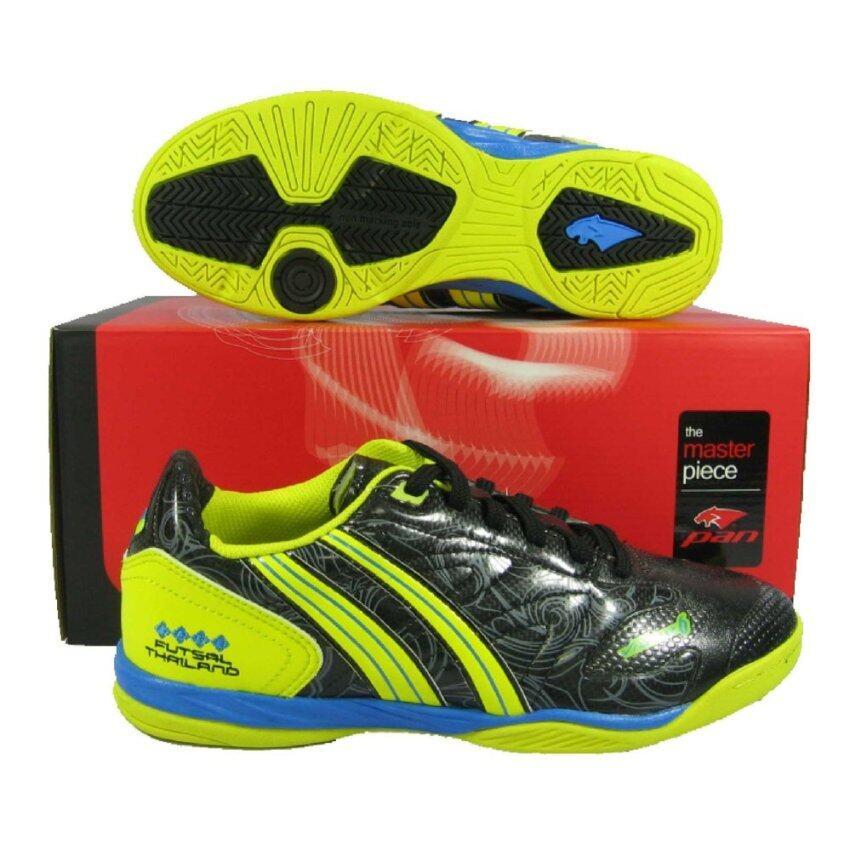 สุดยอด PAN รองเท้ากีฬา รองเท้าฟุตซอล PAN 14G1 VIGOR VI LTD ดำเหลือง ซื้อเลย