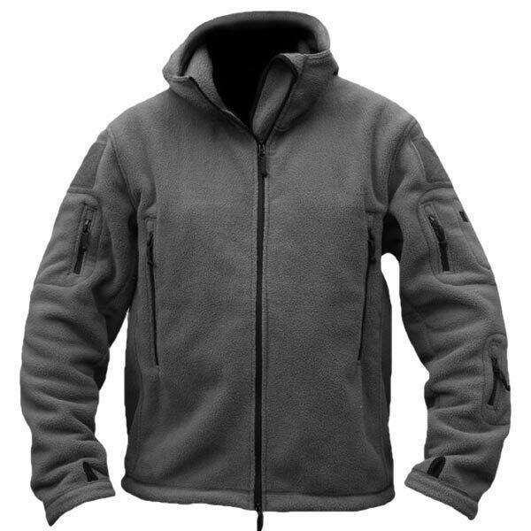 PODOM Men Winter Fleece Hooded Outdoor Jacket Thicken Coats ...