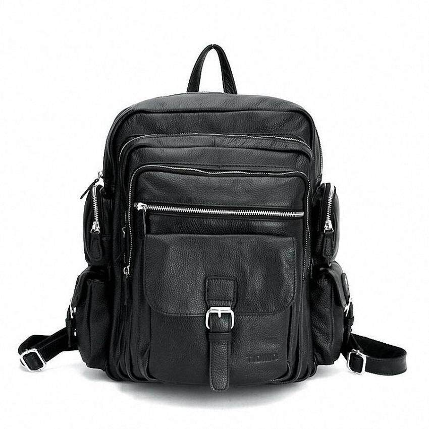 Pretty style Backpack Men Genuine Leather Mens Vintage Backpacks School Bag Teenagers Ne ...