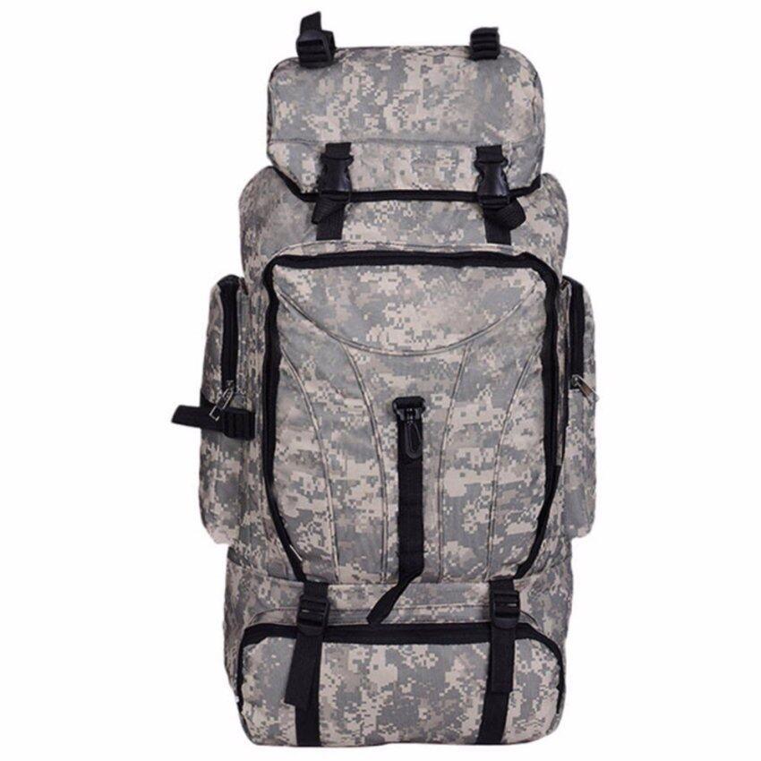 กระเป๋าเป้สะพายหลังลายทหาร สีเขียวเข้มเทา