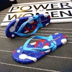 ผู้ชายฤดูร้อนลื่นรองเท้าแตะรองเท้าแตะชายหาด (สีฟ้า) ราคา 337 บาท(-75%)