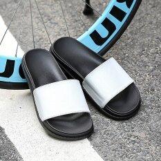 เกาหลีรุ่นคู่ห้องน้ำลื่นชายรองเท้าแตะรองเท้าแตะ (สีขาวและสีดำ) ราคา 388 บาท(-28%)