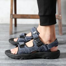ผู้ชายฤดูใบไม้ร่วงใหม่ของผู้ชายรองเท้าแตะรองเท้าแตะรองเท้าแตะ (สีฟ้า) ราคา 534 บาท(-75%)