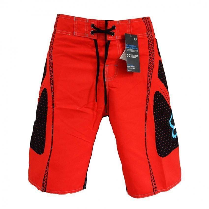 กางเกงว่ายน้ำเล่นเรือสุขาชายกางเกงลำลองชุดว่ายน้ำฤดูร้อนชายหาดกางเกงขายาวสีแดง ...