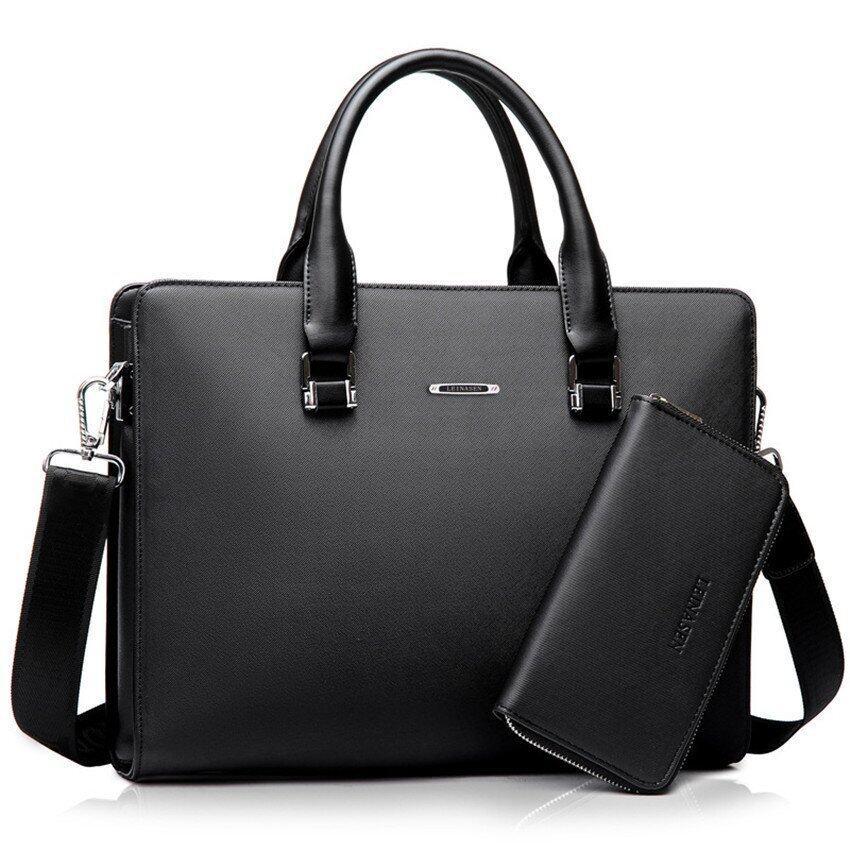 คนตายคนเดียวของธุรกิจกระเป๋ากระเป๋าสะพายประดับตัวต้านทานกระเป๋าเอกสาร (สีดำ/+หนึ่งคลัตช์)