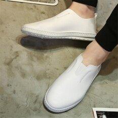 สไตล์เกาหลีรองเท้าหนัง Pu รองเท้า Casual รองเท้า Loafers รองเท้าแฟชั่นรองเท้ารองเท้าดั๊ก ราคา 459 บาท(-50%)