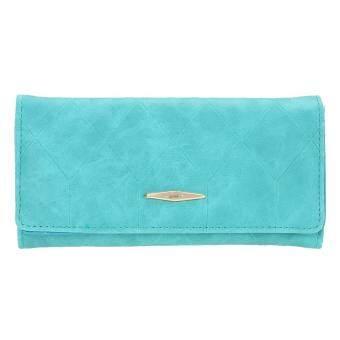 กระเป๋าสตางค์มินิกระเป๋าแฟชั่น PU หนังแท้กระเป๋าใส่บัตรเครดิต - intl