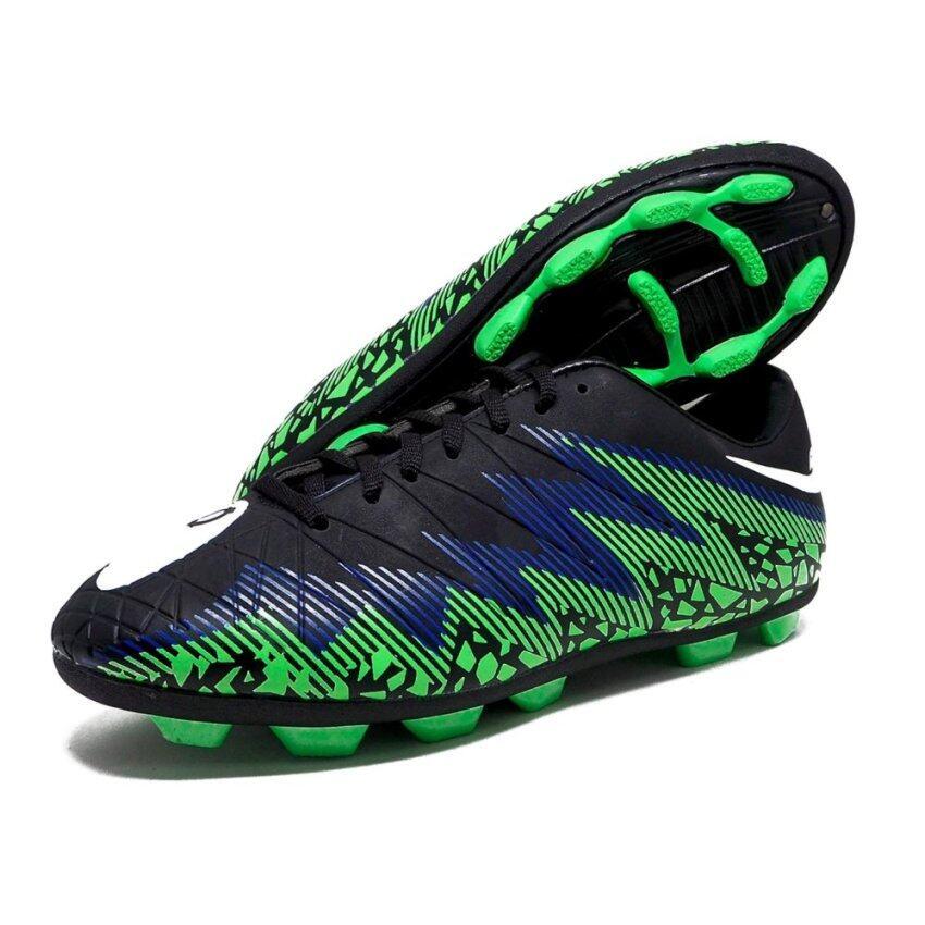 สุดยอด รองเท้าฟุตบอล HARA Sports รุ่น F90 สีดำ-น้ำเงิน-เขียว ซื้อเลย