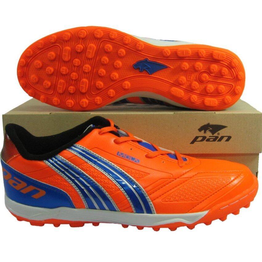 รองเท้ากีฬา รองเท้าฟุตซอลร้อยปุ่ม PAN 14T4 MOLATURE ส้มน้ำเงิน