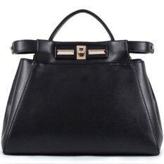 RichCoco (1-1) กระเป๋าถือพร้อมสายสะพาย สีดำ