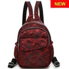 RICHCOCO กระเป๋าเป้สะพายหลัง Nylon leisure Backpack (K01_4 Red Wine)