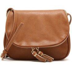 RockLife Fashion Women Bag กระเป๋าสะพายพาดลำตัว Cross-Body Bag 0015 (สีน้ำตาล)