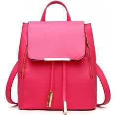 RockLife Women Backpack กระเป๋าสะพาย กระเป๋าเป้สะพายหลัง - Red