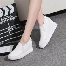 Sharni รองเท้าแฟชั่นแพลตฟอร์มสไตล์เกาหลี รุ่น SN1603 (สีขาว)