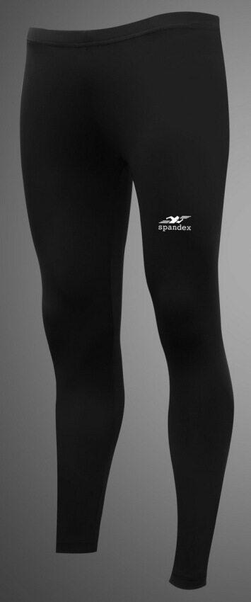 Spandex กางเกงรัดกล้ามเนื้อขายาวธรรมดา S001LF (สีดำ)