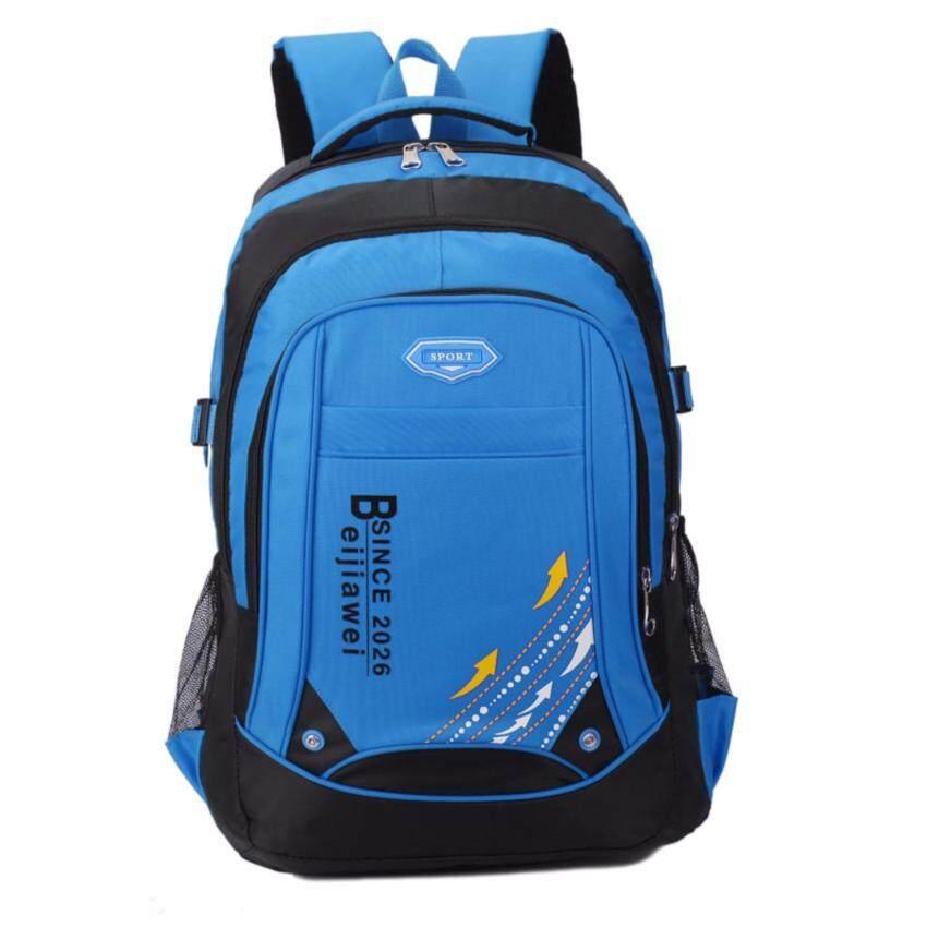 Sports backpack กระเป๋าสะพายหลัง กระเป๋าเป้เดินทาง กระเป๋าเป้ผู้ชาย (Blue)