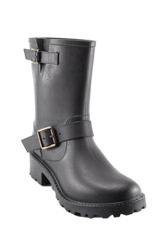 Squareladies รองเท้าบูทกันหนาว กันหิมะ กันน้ำ (สีดำ) ...