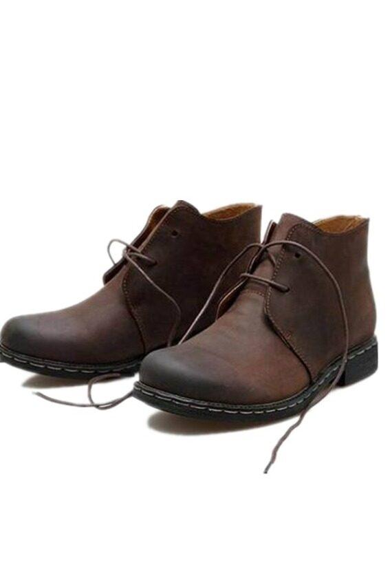 SRZ Beckham Same Paragraph New Design Leather Male Martin Boots (Brown) ...