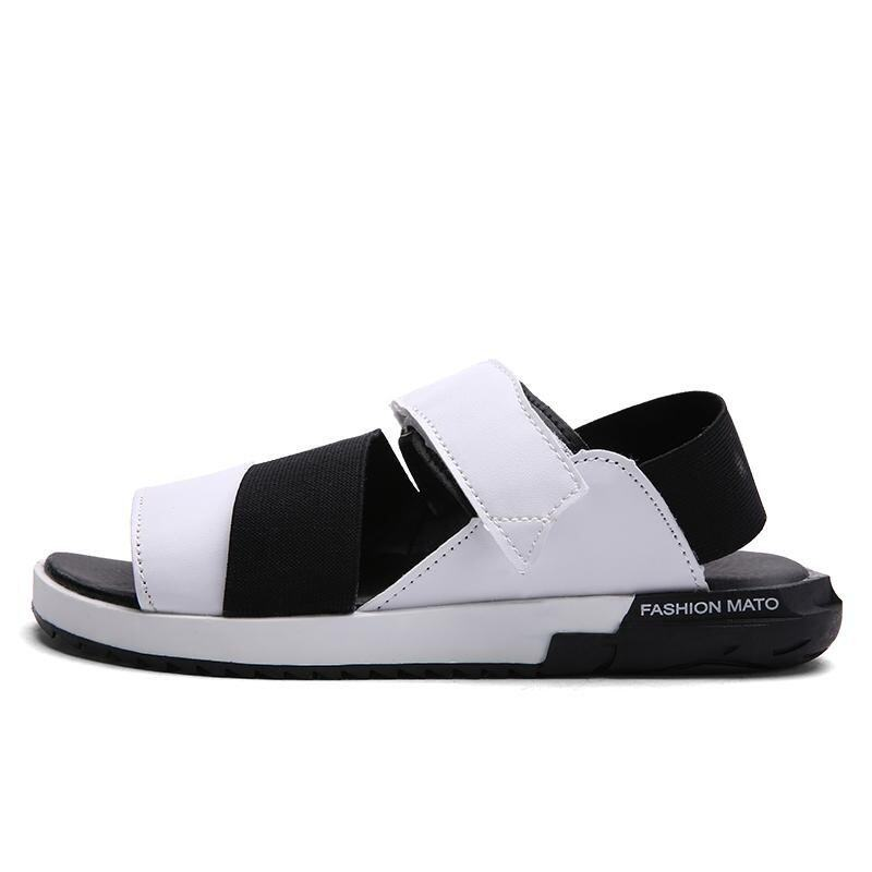 Summer Couple Cool Sandals Tide Shoes Korean Version of the Trend of the Roman Skin Beac ...