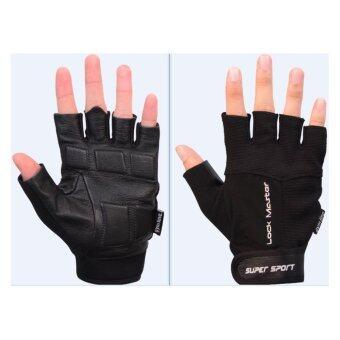 SUPER SPORT ถุงมือ ฟิตเนส SUPER Fitness Gloves Lock Master