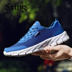 Sxing Air Mesh Men Couple Breathable Protective Footwear Tf New Pattern Korean Sports Shoes Casual Mens Running Shoes Travel Shoes Ventilation Bao-Blue ราคา 499 บาท(-69%)