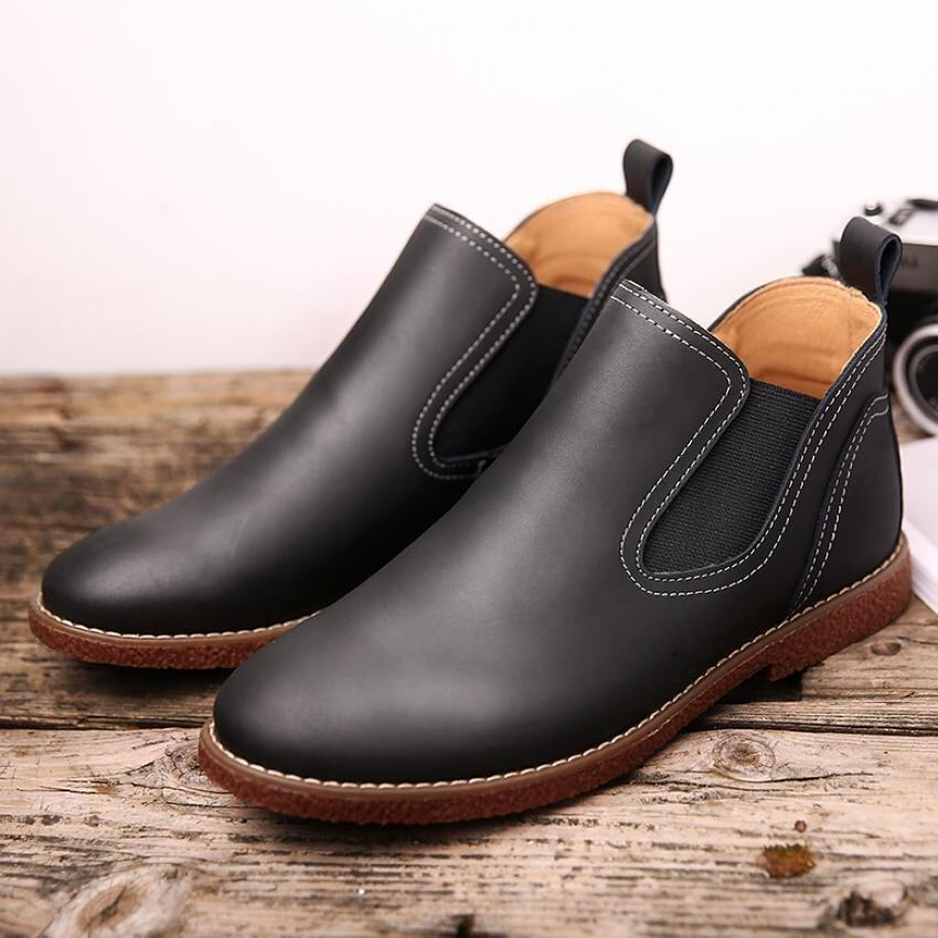 The new fashion leather ankle boots for men - intl ...