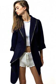 Toprank Autumn Winter Retro Single Button Cashmere Coat And Long Woolen Coat Women Plus Size M-Xxl ( Black )