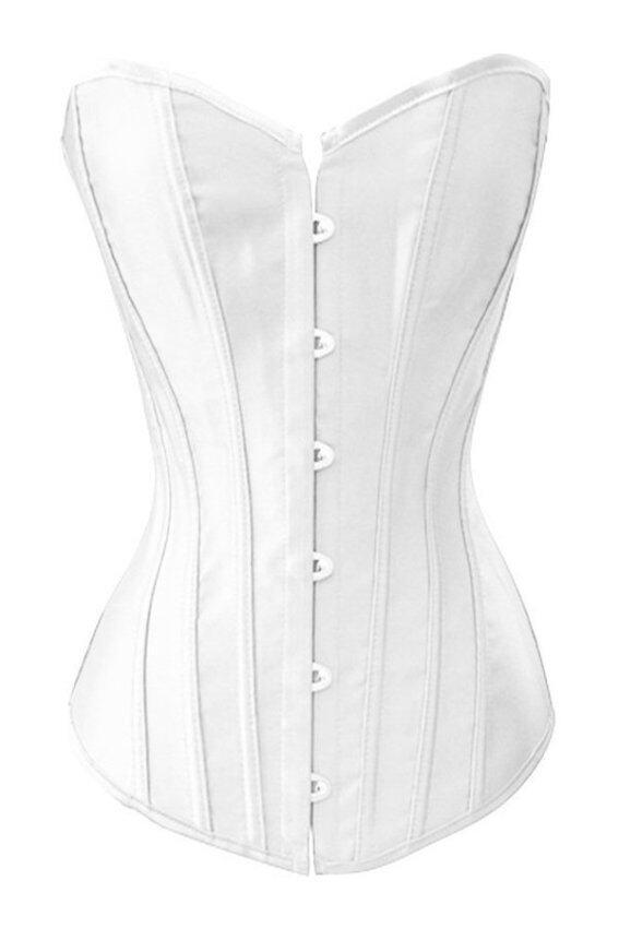หญิงท้องคาดเอว Toprank เกราะเอวจะบอกครูแก้วร่างกายสำหรับสุภาพสตรีเสื้อภายใต้หน้าอก Bustier ควบคุม (ขาว)
