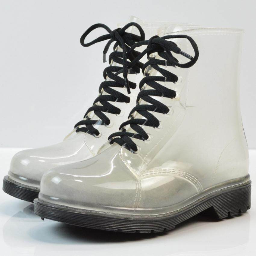 Transparent Womens Rain boots - black - intl ...