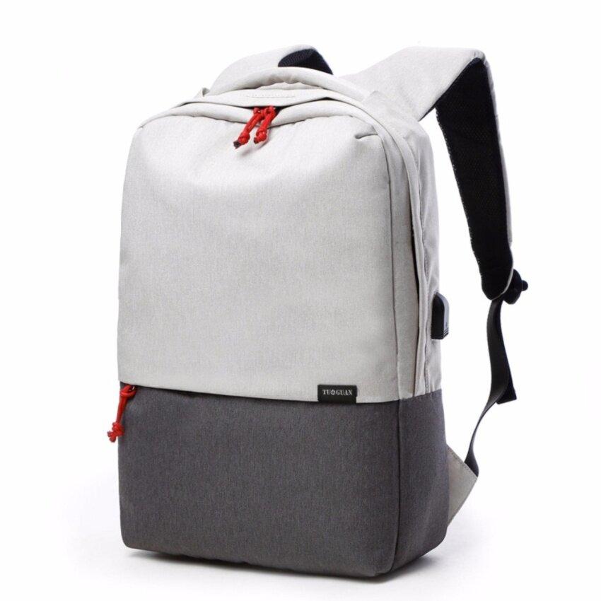 TUGUAN กระเป๋าเป้ Leisure Shoulder Backpack รุ่น 1716 (สีเทาอ่อน-เทาเข้ม)