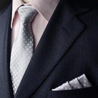 twilight เนคไท & ผ้าเช็ดหน้าสูท Necktie Pocket Handkerchief - รุ่น E102(not defined)