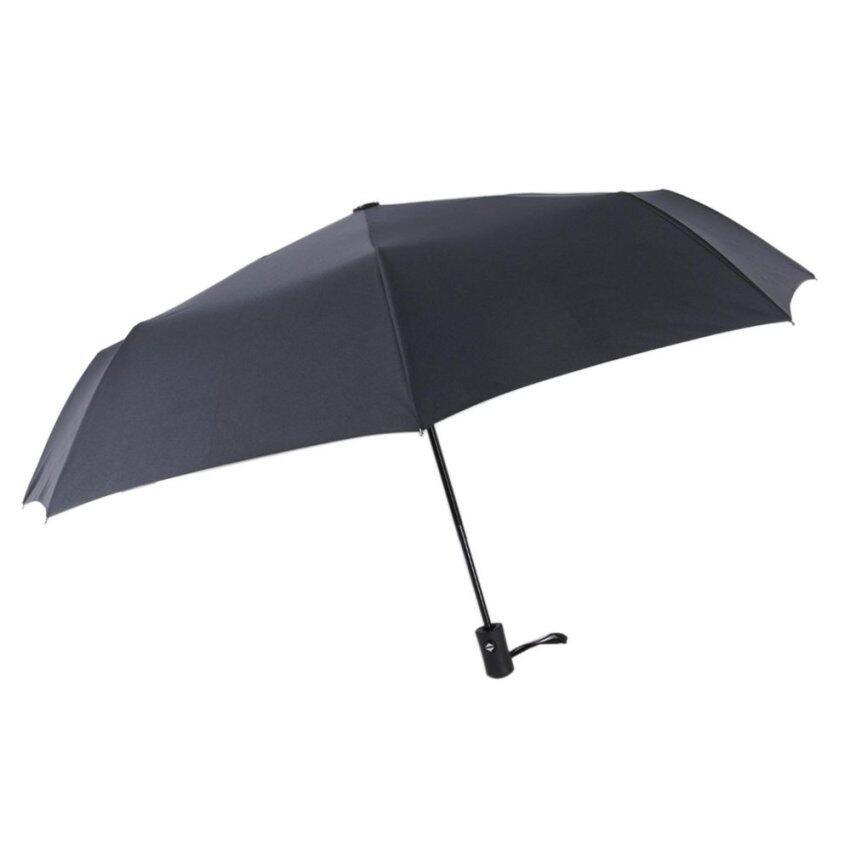 Umbrella Classic Black Automatic Folding Travel Rain Umbrellas Auto Open and Close for Men and Women - intl