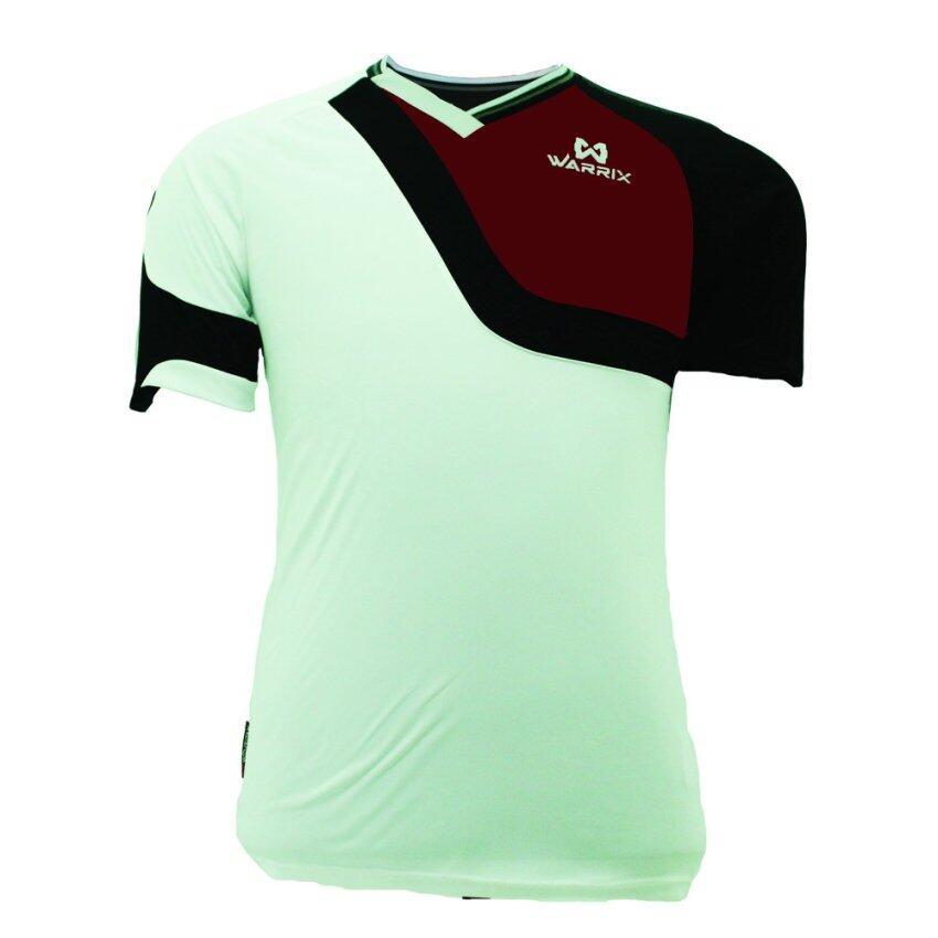 WARRIX SPORT เสื้อฟุตบอลพิมพ์ลาย WA-1504 สีขาว-ดำ