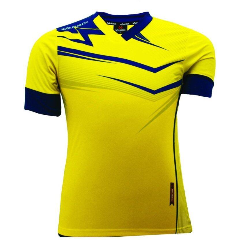 WARRIX SPORT เสื้อฟุตบอลพิมพ์ลาย WA-1515 (สีเหลือง-น้ำเงิน)