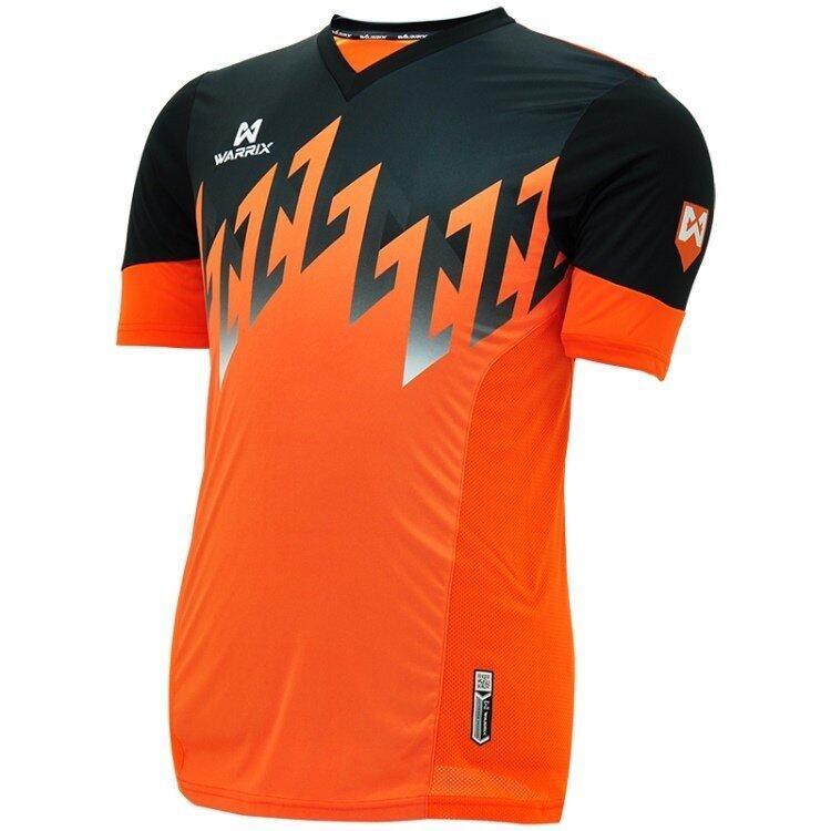 WARRIX SPORT เสื้อฟุตบอลพิมพ์ลาย WA-1519 ( สีส้ม-ดำ )