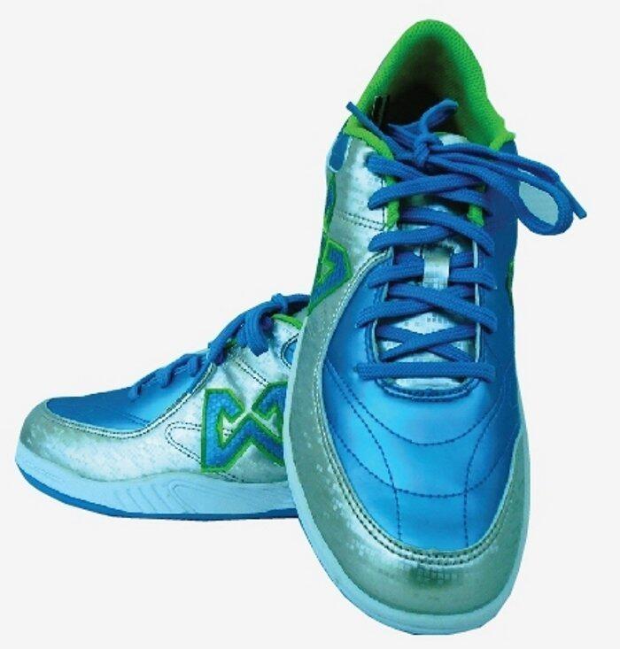WARRIX SPORT รองเท้าฟุตซอล WF-1402 สีฟ้า-น้ำเงิน