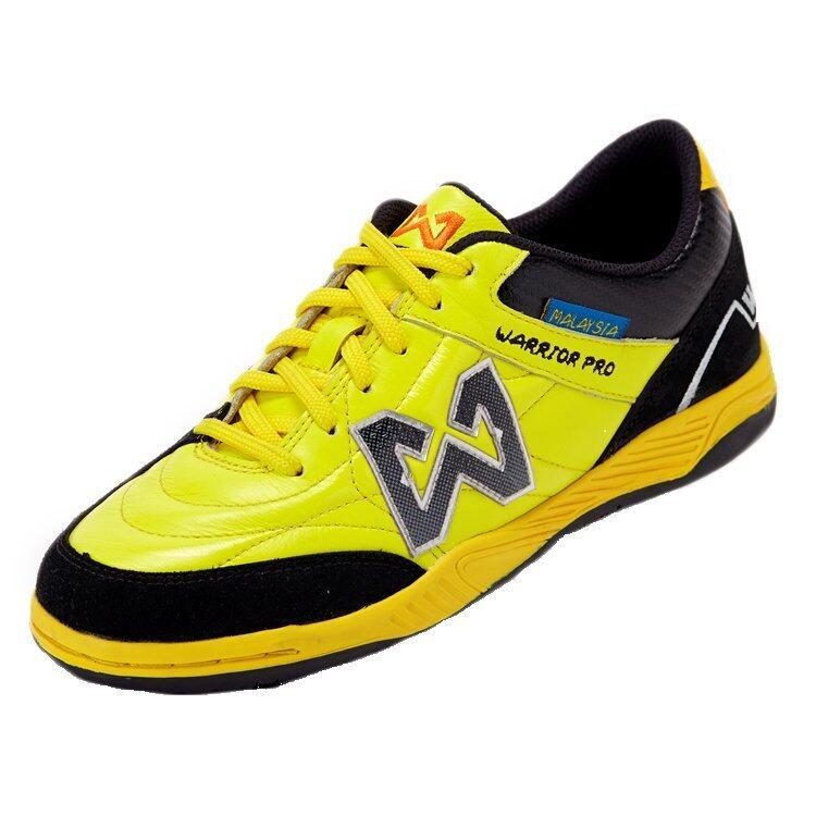 WARRIX SPORT รองเท้าฟุตซอลหนังแท้ WF-1405 ( สีเหลือง-ดำ )