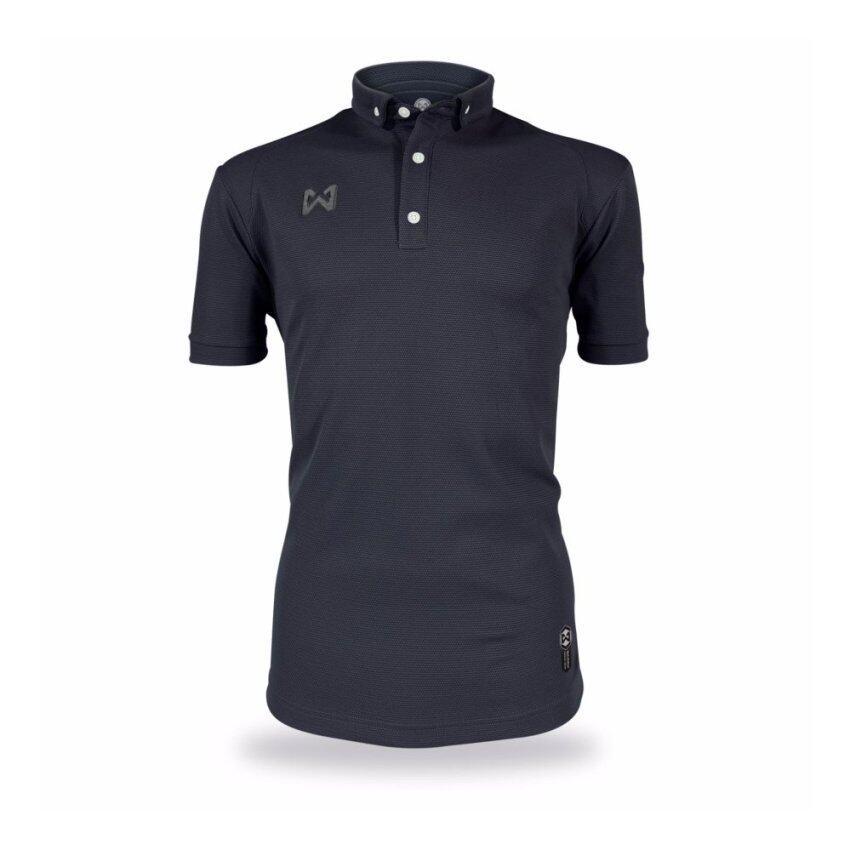 WARRIX SPORT เสื้อโปโลWA-3315-BB(สีดำ)