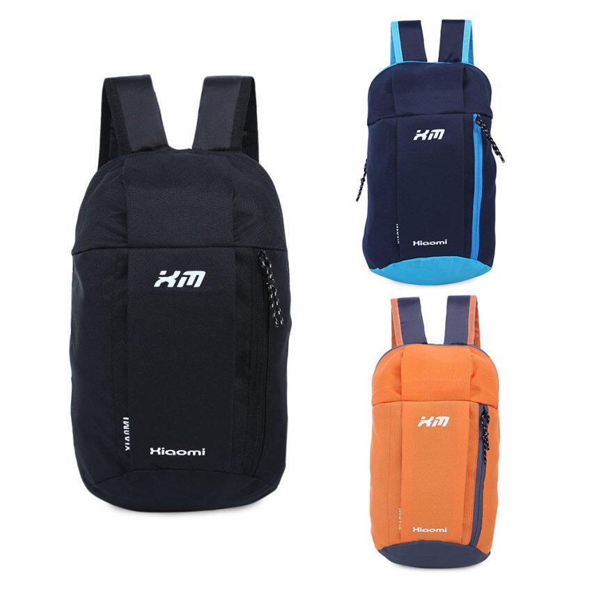 ขาย กระเป๋าเป้กระเป๋าเบากันน้ำถังรูปทรงลวดลายแบบพกพาสำหรับเพศ (สีน้ำเงิน)
