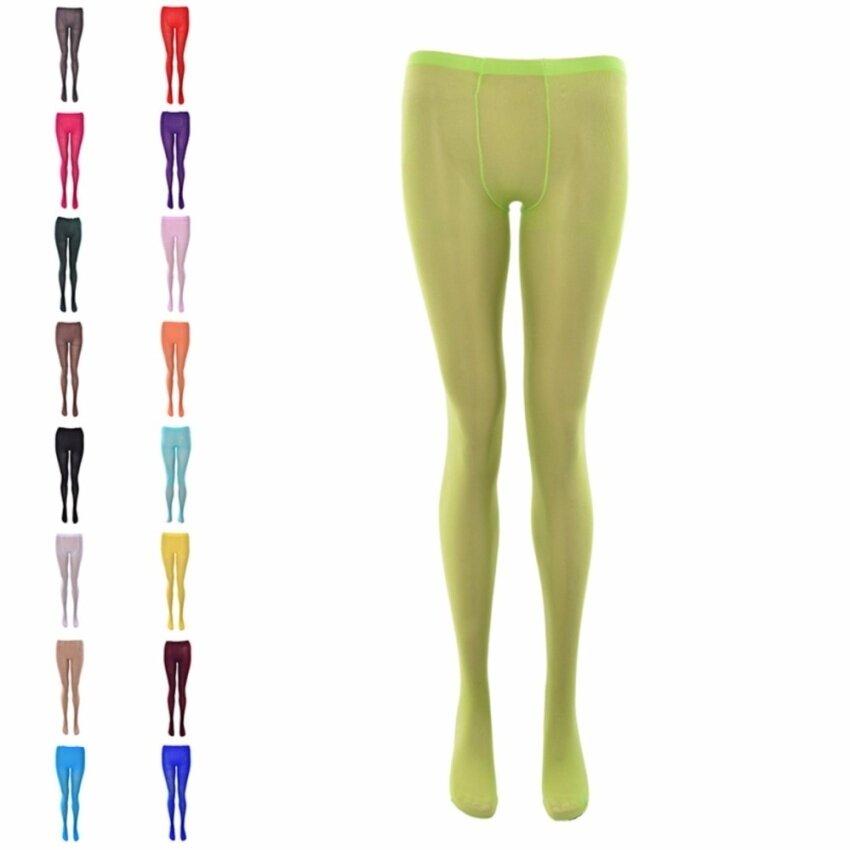 ขายดี Winter Pantyhose Tights Womens Thick Knit Fashion Footed Warm Cotton Stockings Apple Green – intl ขายถูก