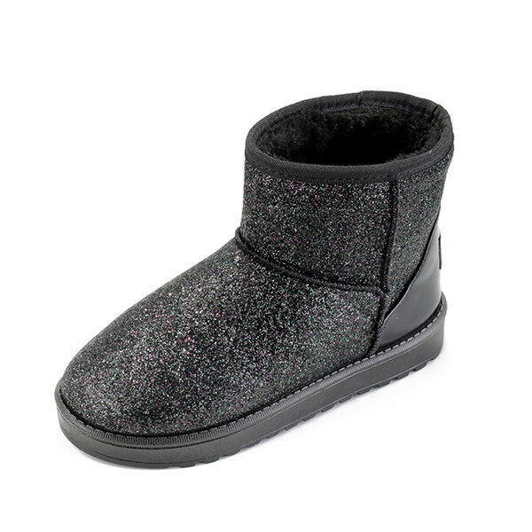Winter warm Add Suede Boots women 2016 fashion Bright face boots snow boots women (Black) - intl