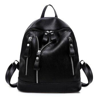 Women Backpack Fashion Casual PU Leather Ladies Teenager Girl School Bags - intl