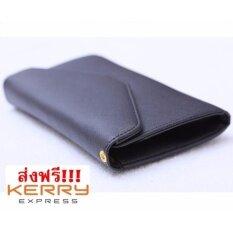 กระเป๋าสตางค์ กระเป๋าเงิน ผู้หญิง ใส่มือถือ Women Long Wallet (black) ราคา 239 บาท(-70%)