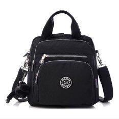 wonderful story กระเป๋า กระเป๋าสะพายข้าง กระเป๋าเป้ผ้าไนลอน JQ - (Black)