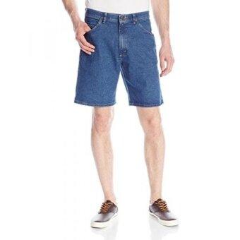 Wrangler Mens Authentics Mens Comfort Waist Denim Short Mid Stonewash 36 - intl