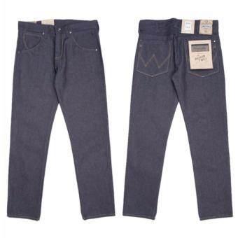 กางเกงยีนส์ขายาวผ้าดิบ Wrangler รุ่น WR W612F242 สี INDIG0 size 33x32